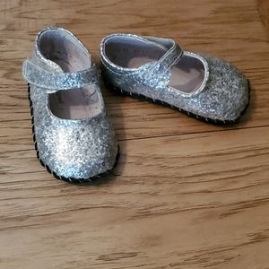 Pediped Originals Delaney Silver Shoes 12-18 month